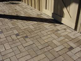 Brick Patterns For Patios This Tan Neutral Toned Paver Brick Patio In A Basket Weave