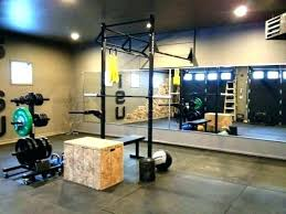 home gym ideas garage pretty solid rogue set up health and fitness small garage gym ideas u18