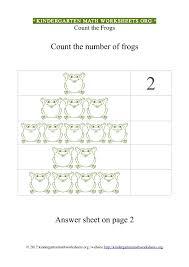 Kindergarten Math Counting Frogs | Kindergarten Math Worksheets Org