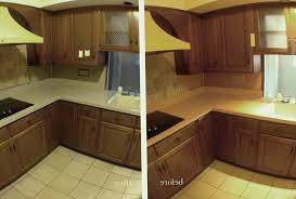 painting laminate countertops before and after