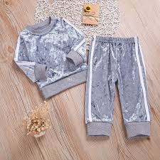 children s clothing long sleeve o neck clothes set solid tops pants outfits kid autumn winter suit ropa para adolecentes