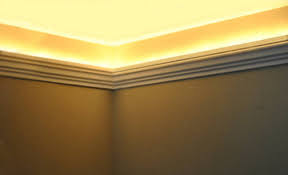 crown moulding lighting. Foam Crown Molding Installed With Round Rope Lights. Www.creativecrown.com Moulding Lighting F