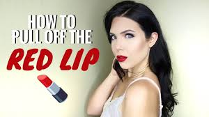 tips on how to wear red lips red lip