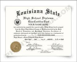 fake louisiana high school diploma and transcripts com fake louisiana high school diploma hs la