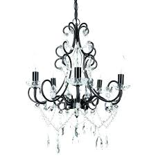 plug in chandelier lighting black and white chandelier 5 light classic crystal plug in chandelier black
