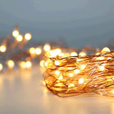 100 warm white led 10m copper wire micro battery fairy lights