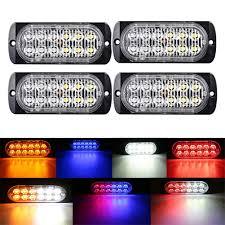 Led Caution Lights Amazon Com Magood 12 Led Ultra Thin Car Emergency Warning