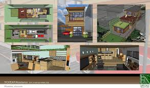 modern residence for a narrow urban lot milwaukee wisconsin proposed design