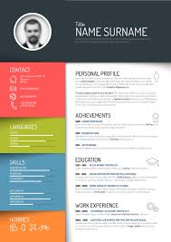 Resume Templates Free Design Creative Resume Template Design Vectors 05