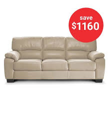 bay leather republic audrey 3 seater sofa