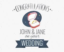 Congratulations Poster Wedding Congratulations Greeting Card Maker Editable Design