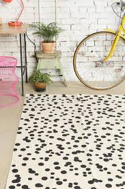 splendid black and white polka dot rugs area rug full image for all modern ikea kilim