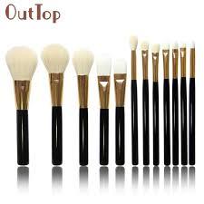 12pcs brush kabuki brush eye kabuki makeup brush set makeup brush cleaner dropship