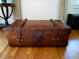 coolest antique trunk coffee table ilw127