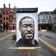 The George Floyd mural in Manchester ...