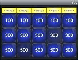 Classroom Jeopardy Template 7 Classroom Jeopardy