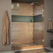 x hinged shower door with technology 60 frameless vigo inch frosted glass sliding