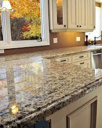 a granite countertop polished to a high gloss