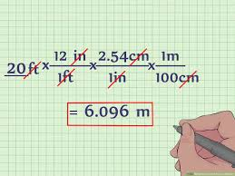Meters To Feet Chart How To Convert Feet To Meters With Unit Converter Wikihow