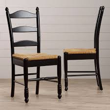 black dining chairs set of 2 ladder back rush seat country side black dining chairs set of 2 ladder back rush seat country side chair seating bl black
