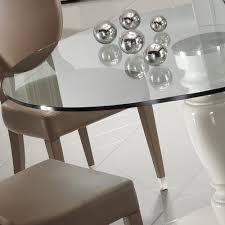 Italian Glass Dining Table Designer Italian Leather Dining Chair And Glass Dining Table Set