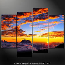 clouds premium wall art cascade picture many sizes free oil painting acrylic large canvas wall painting