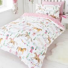 bedding single horse duvet silver bedding sets black pony set curtains for bedroom kids holiday girls