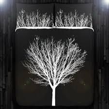 white winter tree black duvet cover bedding queen size king