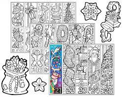 Small Picture Christmas Coloring Advent Calendar printable Christmas