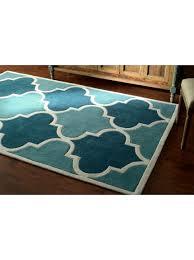 8 3 x 11 hand tufted fez blue rug