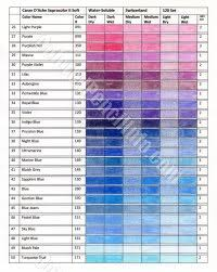 Supracolor Color Chart Colored Pencil Info