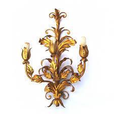 Antike Wandlampen Florentiner Blätter Wandleuchter Gold