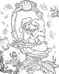 Small Picture Ariel Put Some Make Up Colouring Page Happy Colouring