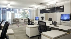 concept office interiors. Outstanding Small Office Interior Design Ideas With Modern Brown Impressive White Table Furniture And Flexible Drawers Concept Interiors