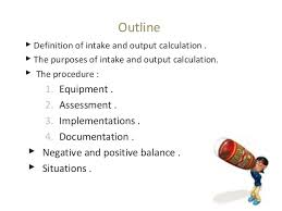 Urine Input Output Chart Intake Output Chart Guidelines