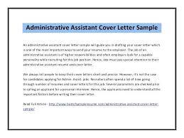 Sample Cover Letter Template Administrative Assistant Lezincdc Com
