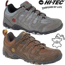 Details About Mens Hi Tec Leather Walking Hiking Trainers Trekking Boots Running Shoes Size