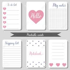 To Do Lsit Printable Cute Design Cards Shopping List To Do List Notebook