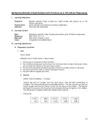 Lesson guide gr. 3 chapter i -multiplication v1.0