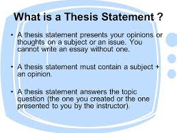writing thesis statements what to do before writing a thesis what is a thesis statement