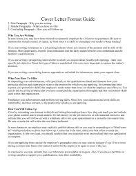 cover letter format letter format proper format of a cover letter