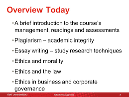 ethics governance lecture introduction to ethics governance  2 overview
