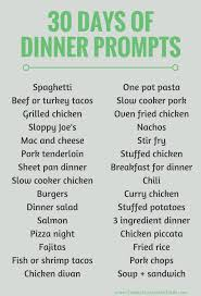 30 easy healthy family dinner ideas