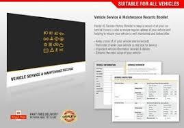 vehicles maintenance records service book car history maintenance handbook blank manual booklet