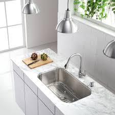 Retractable Kitchen Faucet Kraus One Handle Single Hole Kitchen Faucet Reviews Wayfair