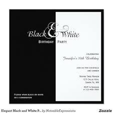 Black And White Invitation Paper Elegant Black And White Party Invitation Zazzle Com
