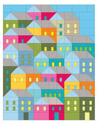 Hillside Houses Quilt Pattern   House quilts, Patterns and House & Hillside Houses Quilt Pattern Adamdwight.com