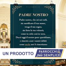 Cartello rigido Padre Nostro – nuovo Messale » InterGentes