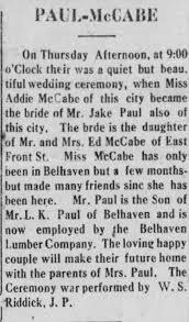 Jake Paul - Addie McCabe Belhaven Journal, Belhaven, NC 25 Nov ...