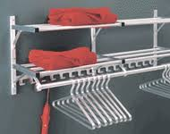 Wall Mounted Coat Rack With Storage Aluminum WallMounted Coat Hook Rack with 100 Hook Rails and Storage 95